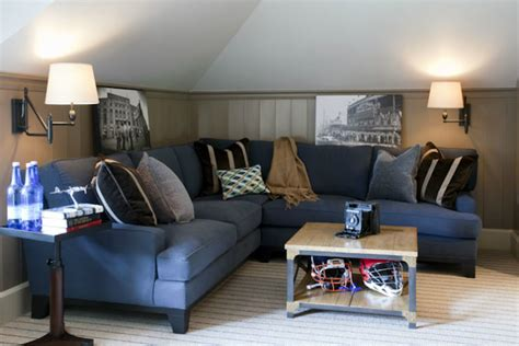 attic tv room traditional boy s room liz caan interiors