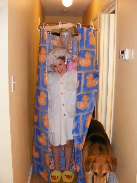 shower curtain halloween costume homemade shower costume costumes pinterest costumes