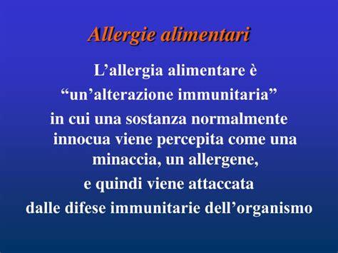 reazione allergica alimentare ppt allergie ed intolleranze powerpoint presentation