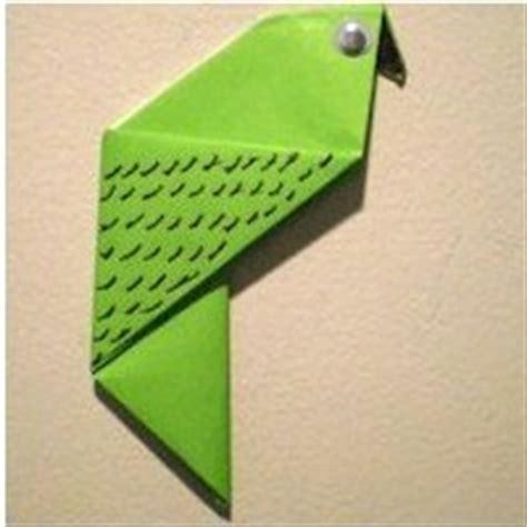 Origami Parakeet - origami parakeet family crafts
