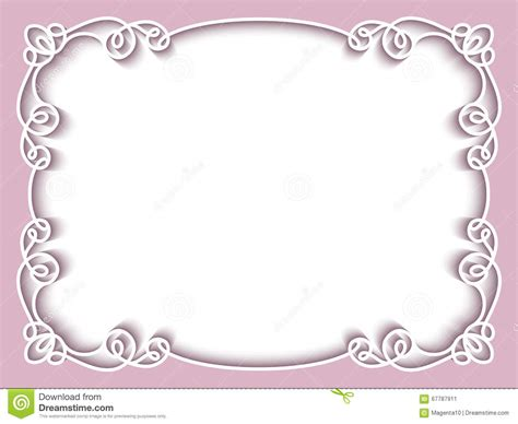 picture frame birth day card template rectangle paper frame greeting card template stock vector