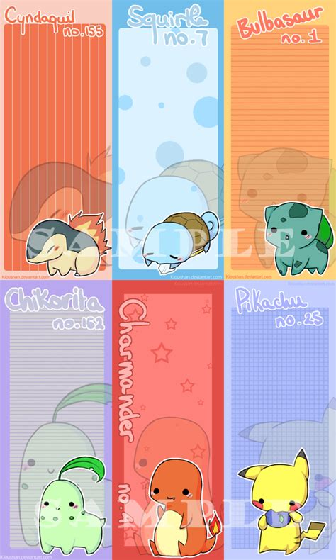 printable bookmarks pokemon 5 best images of cute pokemon bookmarks printable
