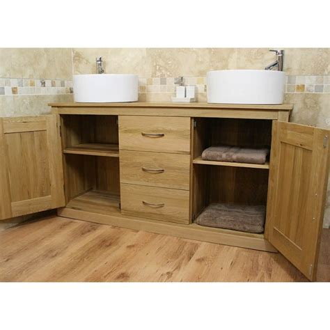 Light Oak Furniture Large Ceramic Bathroom Sink Unit Light Oak Bathroom Furniture