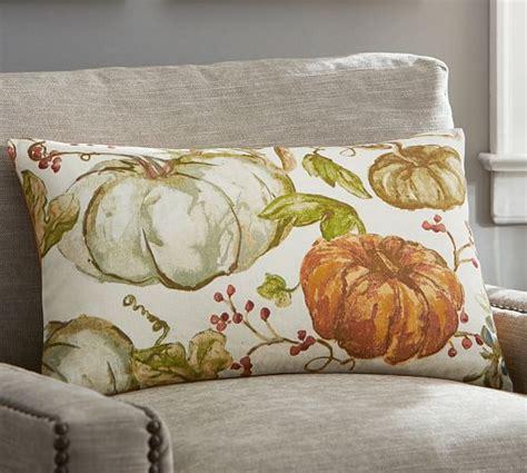 Pottery Barn Pumpkin Pillow watercolor painted pumpkin patch lumbar pillow cover