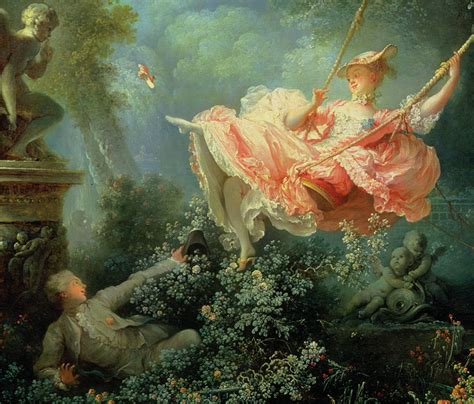 the swing watteau rococo painting in france