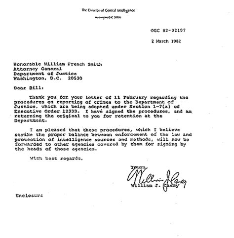 cia cover letter overwhelming evidence that the cia is smuggling drugs for