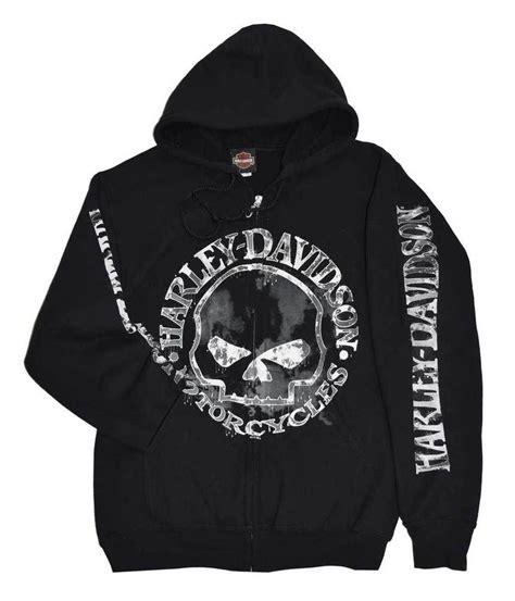 Hoodie Harley Davidson Abu details about harley davidson s zippered sweatshirt jacket willie g skull black 30296647