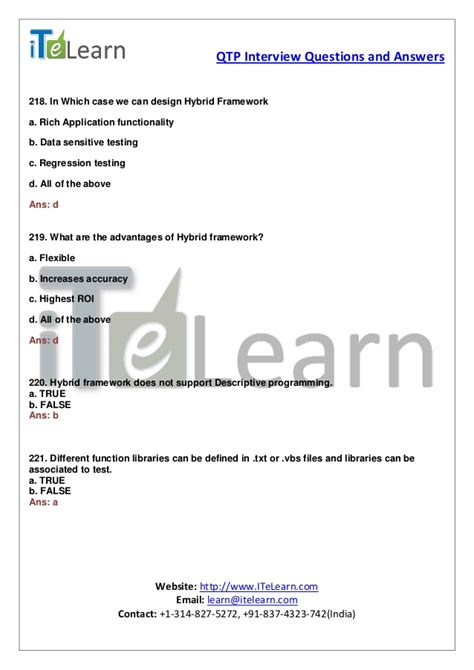 qt programming interview questions qtp interview questions and answers