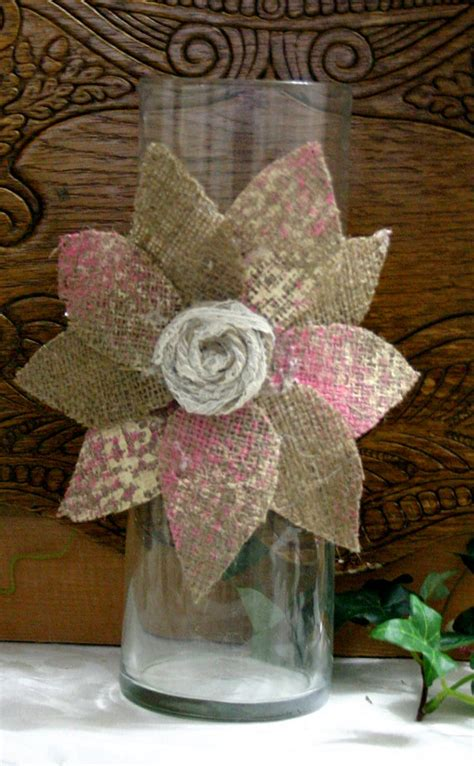 wedding centerpieces etsy items similar to burlap wedding centerpiece candle and flower vase covers country chic wedding