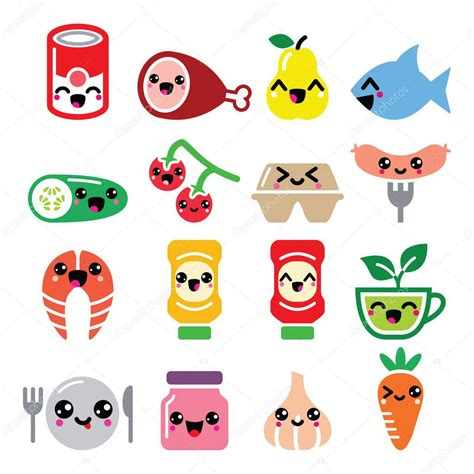 imagenes de comida con caritas kawaii personajes de comida cute kawaii carne vegetales