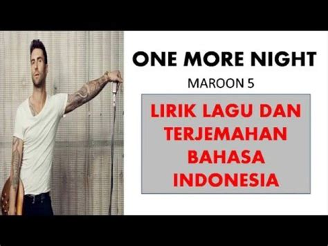 despacito lirik terjemahan maroon 5 one more night lyric video doovi