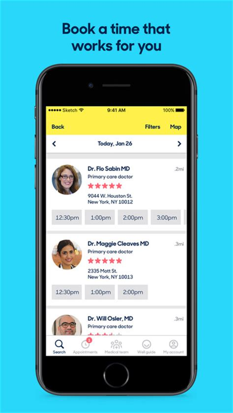 book report app zocdoc find book a doctor app report on mobile