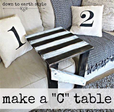 to earth style make a sofa quot c quot table easily