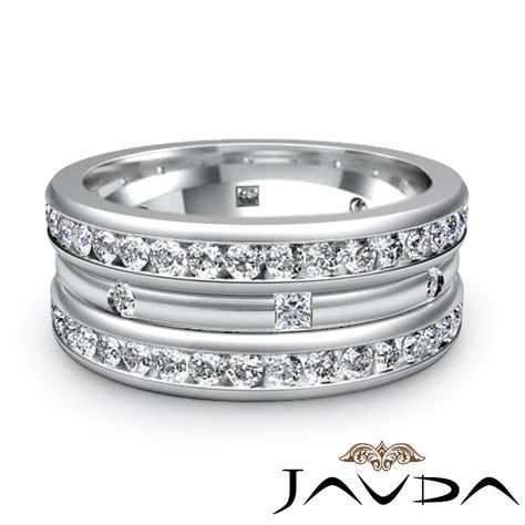 princess mens wedding eternity band 9mm ring