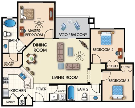 apartments floor plans 3 bedrooms foundation dezin decor 2 3 bedroom apartments