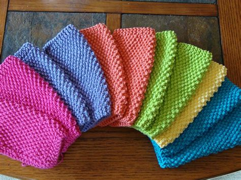 easy knit dishcloths free pattern lovely colorful dishcloths knit and