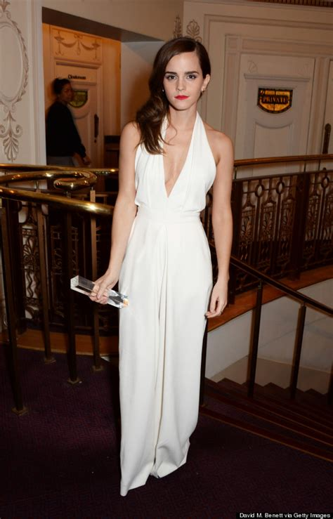 emma watson jumpsuit emma watson is gorgeous in a plunging jumpsuit huffpost