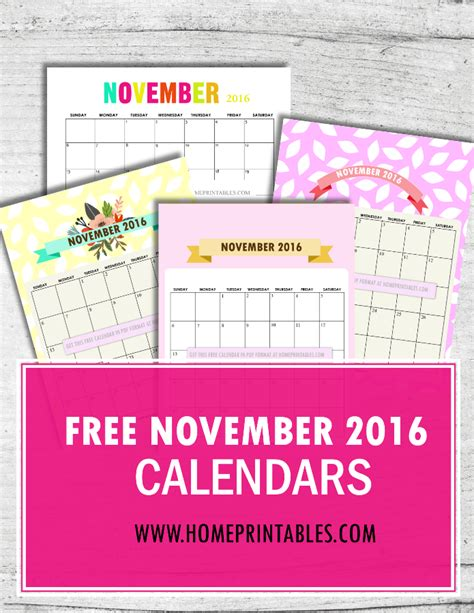 home design editorial calendar 2016 free printable november 2016 calendar 8 designs home
