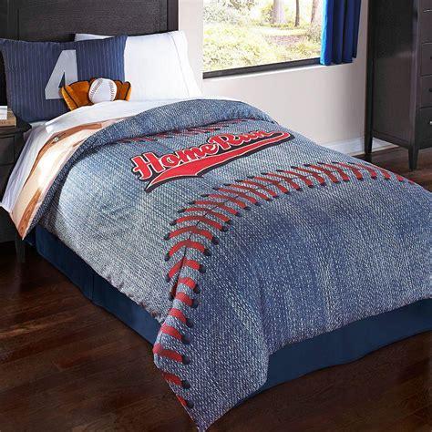 baseball comforter full baseball reversible comforter set blue from kohl s justice