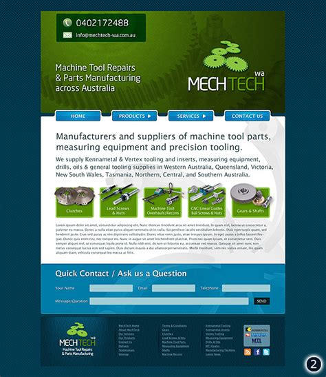 home decor websites in australia design visuals for australian manufacturer mech tech website