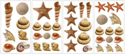 Wall Stickers Music sea shells removable wall decals wall2wall