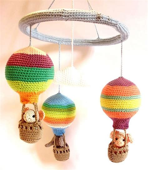 air balloon pattern hot air balloon mobile crochet pattern pattern by silke