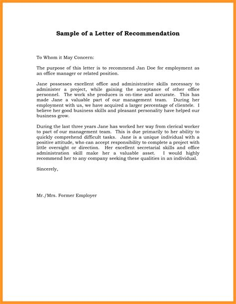 Letter Of Recommendation Research Supervisor letter of recommendation supervisor bio letter format
