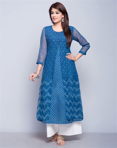 buy fabindia indigo cotton kota printed double layered