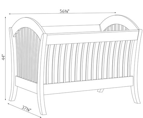 Dimensions Of A Baby Crib Manhattan Convertible Crib Amish Traditions Wv