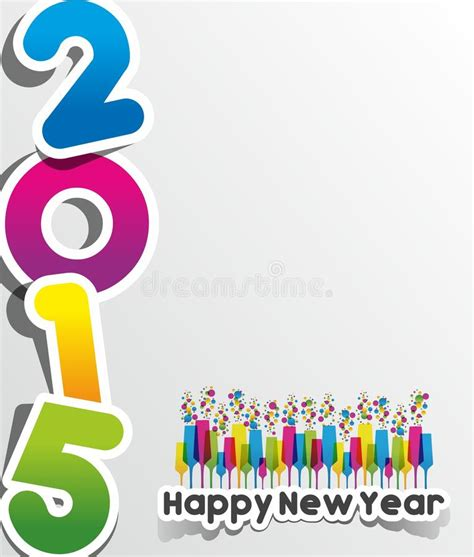 new year card 2015 vector happy new year 2015 greeting card stock vector