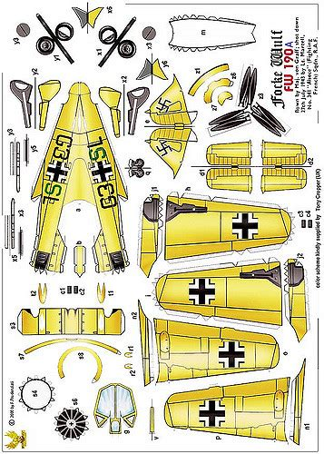 3d paper model airplanes print outs focke wulf fw190a tom wigley flickr