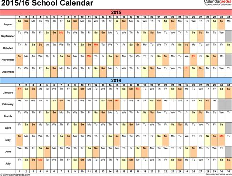 the best free printable academic calendar for 2017 2018