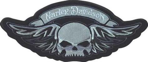 Motorrad Aufnäher by Hd Harley Davidson Winged Skull Bar Shield Aufn 228 Her Patch