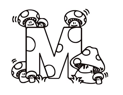 coloring page for letter m free coloring pages of letter m worksheets