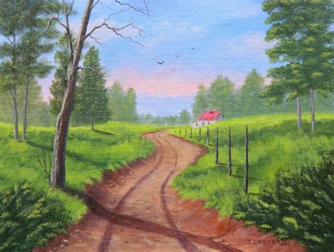 path housing the path home carter painting by john carter