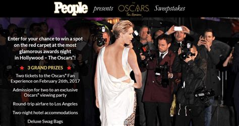 People Sweepstakes - people red carpet oscars fan experience 2017 sweepstakes people com ofe2017