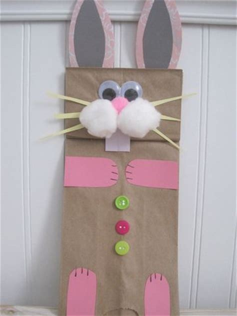 Paper Bag Bunny Craft - preschool crafts for best 25 easter bunny crafts
