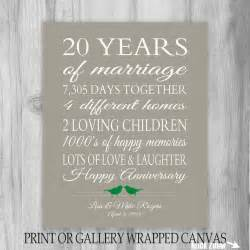 20 year anniversary gift 20th anniversary art by
