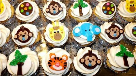 jungle baby shower cupcakes jungle themed baby shower cupcakes busy b s cakes