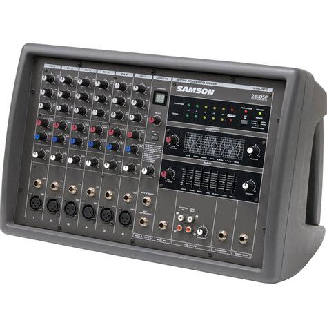 Mixer 6 Chanel Murah samson xml410 6 channel 400w powered mixer saxml410 b h photo