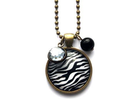Zebra Necklace zebra necklace felt