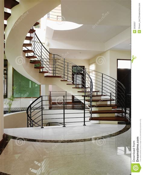 Interior design   stairs stock image. Image of floor