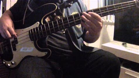 dig iron man bass cover youtube