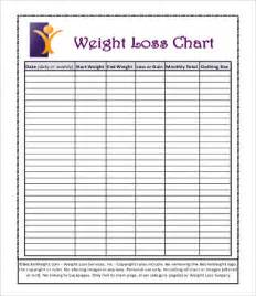 weight chart template sle weight loss charts 9 free pdf documents