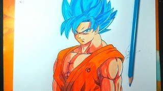 imagenes de goku pelo azul dibujando a goku vs bills dbz la batalla de los dioses