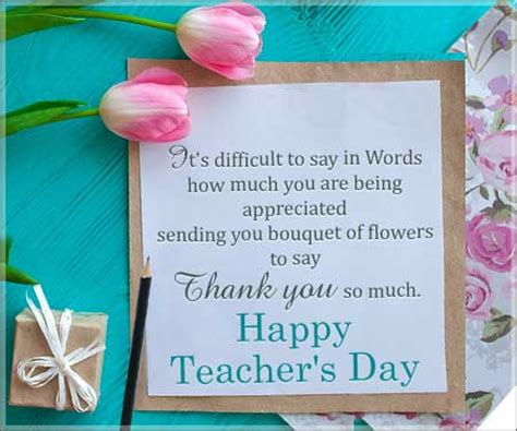 Thank You Letter For Teachers Day Thank You So Much Teachers Day Thank You Cards