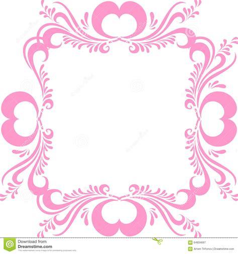 cornici cuori cornice rosa stilizzata con il modello decorato e cuori