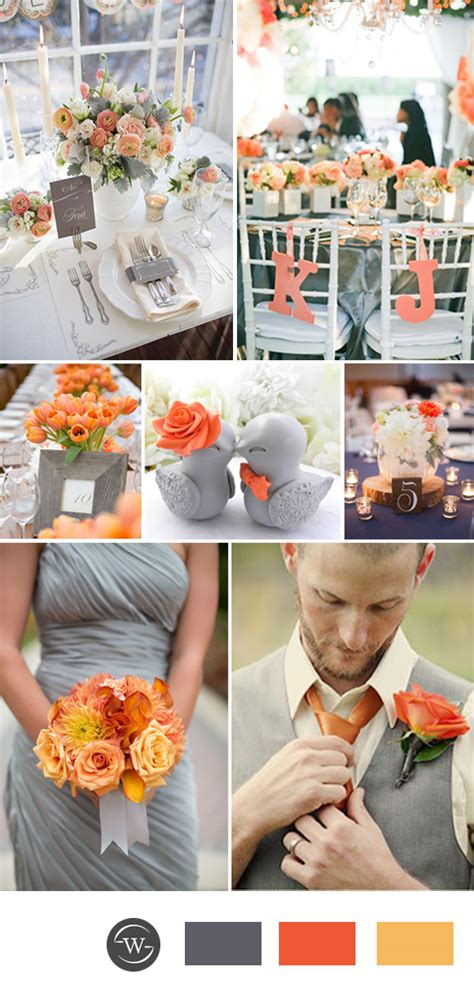top 10 grey wedding color combination ideas for 2017 trends stylish wedd