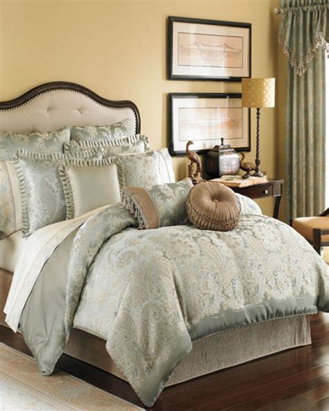 Croscill Townhouse Comforter by Greenwich Soft Aqua Bedding Ensemble By Croscill Townhouse Linens