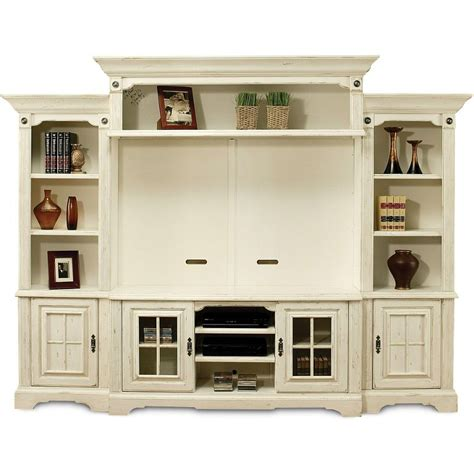 rooms to go media cabinets highland manor white 5 piece entertainment wall unit